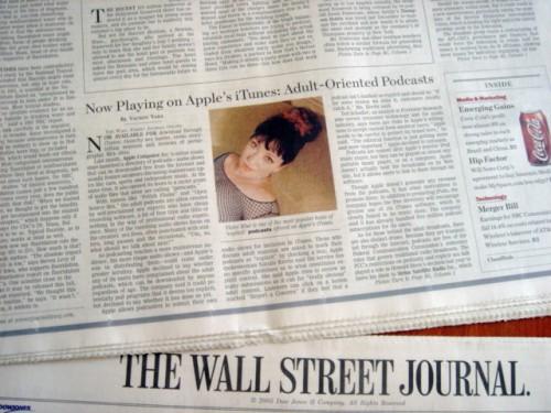 Violet Blue Wall Street Journal