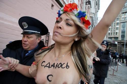 Femen protester