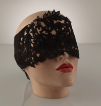Black Floral Lace Blindfold