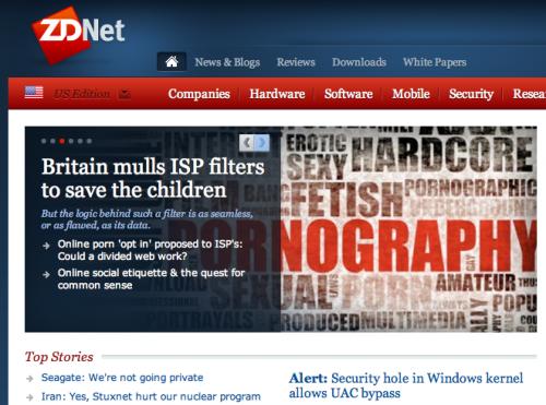Britain Porn ISP Filters