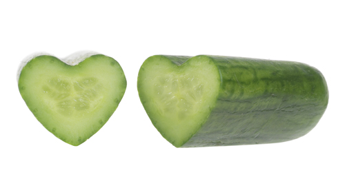 Heart Shaped Cucumbers