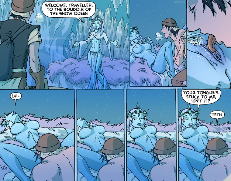 You can also follow Oglaf on Twitter for updates and general wittiness ...