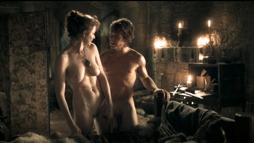 Alfie Allen and Esmé Bianco Game of Thrones: Wolf and the Lion