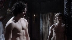 Kit Harington and Alfie Allen shirtless, Game of Thrones