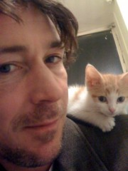 Littlefinger - Lord Petyr Baelish - (actor Aiden Gillen) with kitteh