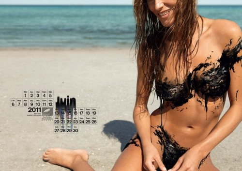 Surfrider oil bikini calendar June