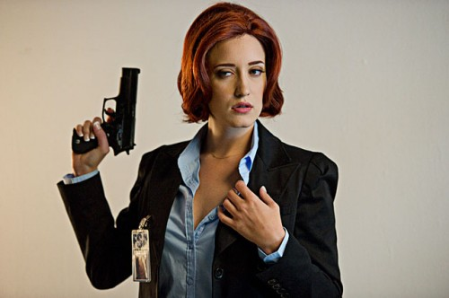 Kimberly Kane as Agent Scully in The Sex Files