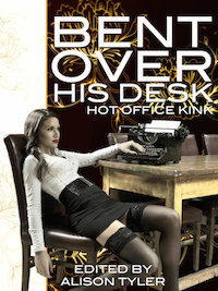 Bent Over His Desk