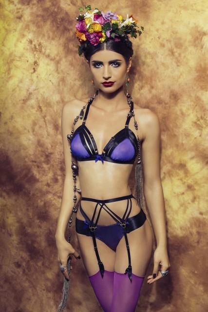 Bordelle-Cabaret-triangle-bra-webbed-thong-Adriana-strap-suspender